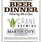 Beer Dinner Feb 2018