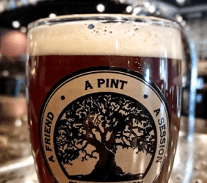 Public House Irish Red Brew Glass Thursday