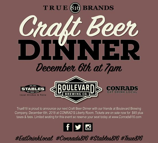 Craft Beer Dinner Dec 2018