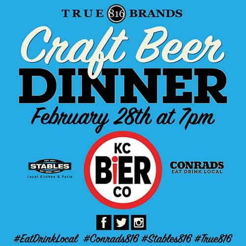 CONRAD's Craft Beer Dinner - February 28th, 2019