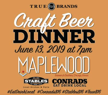 Craft Beer Dinner June 13th at 7pm