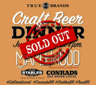 2nd Qtr Craft Beer Dinner Sold Out