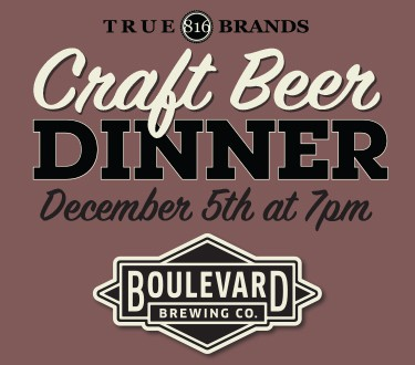 Beer Dinner December 5th at 7pm